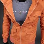 Коттоновая куртка на кнопках.Размер:S, M, L (2з
