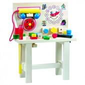 Стол для юного мастера с часами, большой Bino 82145