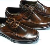 новые туфли для мальчика коричневые на липучке