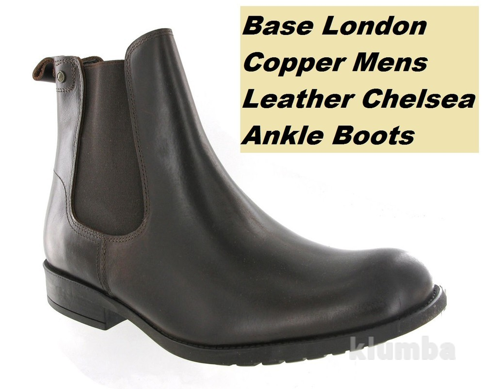 Ботинки челси броги base london, кожа, португалия, размер 46 или 12, стелька 31 см фото №1