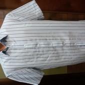 летняя рубашка в полоску р.М