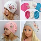 Срочный сбор заказа! Шапка шапочка для девочки Хлопок 1 слой. Девочка/девушка р. 52-57 см.