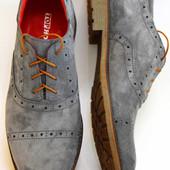 Туфли Мужские натуральная кожа ,замша 5 цветов   Код: 259 Derby Oxford