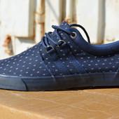 Мужские спортивные туфли кеды низкие синие