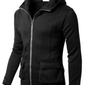 (2з)Толстовка с карманами карго,S, M, L,черный и светло-серый (меланж)