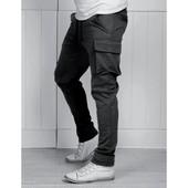 Спортивные штаны с карманами карго,: S-M и М-L. (2с