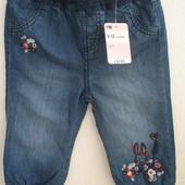 Новые джинсы Mothercare 9-12 мес. на рост  80