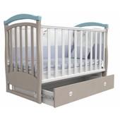 Детская кроватка Верес Соня ЛД6 маятник капучино-голубой 06.11