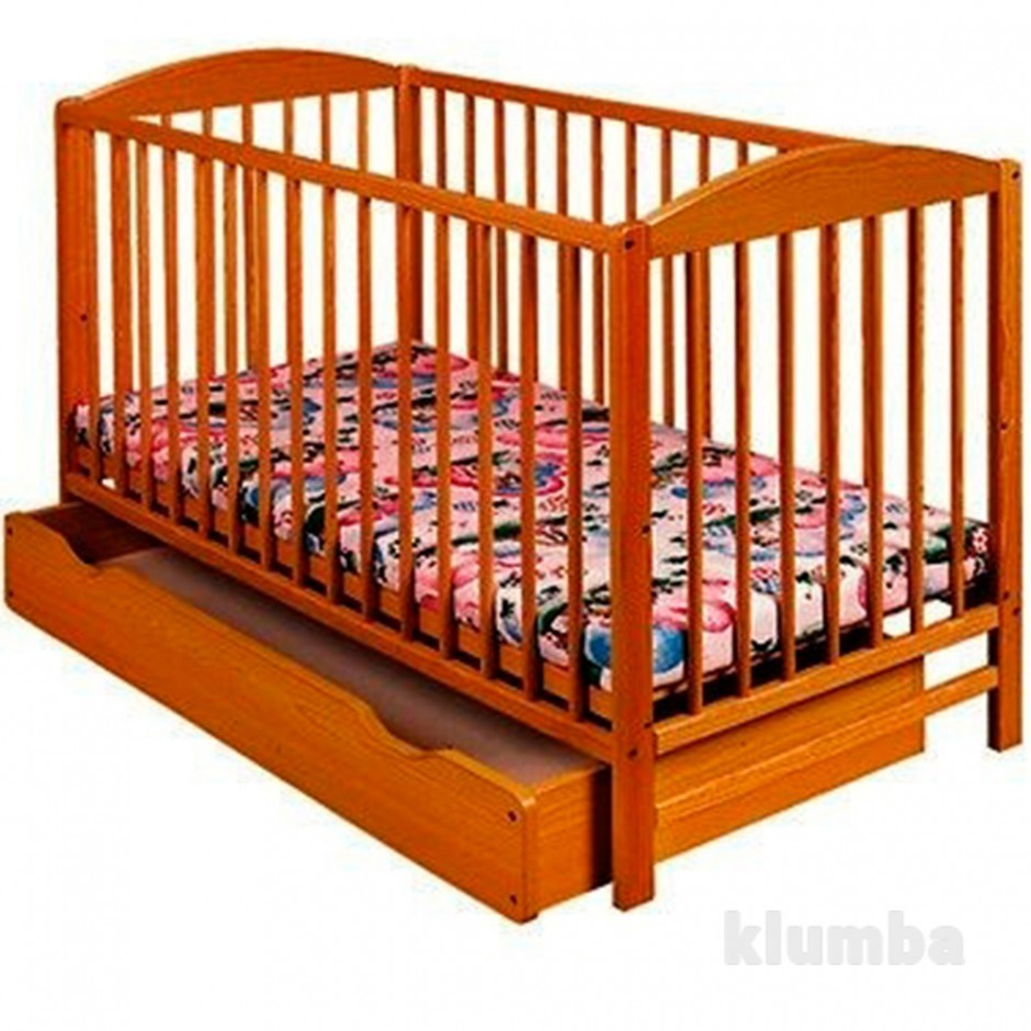 Детская кроватка Klups Radek II тик фото №1