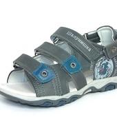 100-5728 Детская летняя ортопедическая обувь, босоножки, сандалии для мальчика, Шалунишка, р-р 32-37