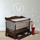 Детская кроватка Верес Соня ЛД18 орех 18.03