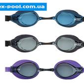 Детские очки для плавания от 8 лет 3 цвета. Артикул 55691