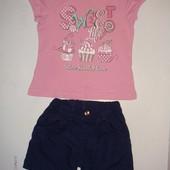 Майка + шорты на 4-6 лет
