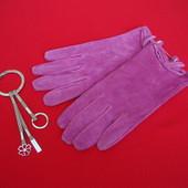 Перчатки Pink натур замша