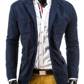 Стильная мужская куртка пиджак хлопковая. Размер М (2з