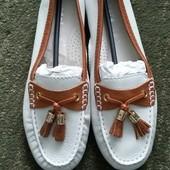 Новые женские туфли, мокасины, бренд Andre, кожаные, 38 размер. Оригинал