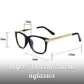 Имиджевые очки с прозрачной линзой унисекс