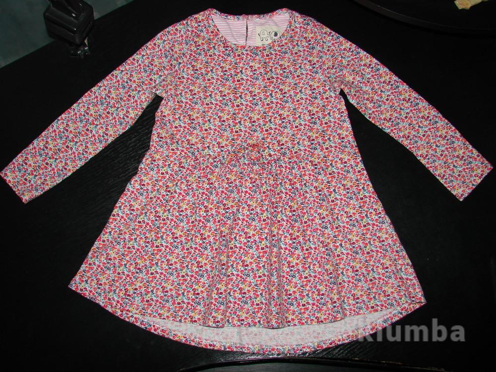 платье Next 6-9 мес (до 12 отлично) состояние отличное  100% коттон фото №1