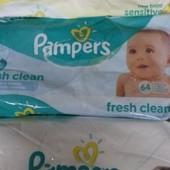 Влажные салфетки Pampers sensitiv  памперс