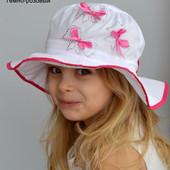 Панамка для девочки 2 размера на обхват 52-54см и на 54-56