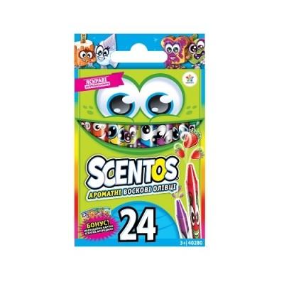 Scentos набор ароматных восковых карандашей мини дружная компания 24 цвета фото №1