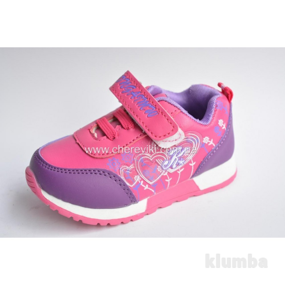 Детские кроссовки для девочки малиновые (розовые) фото №1