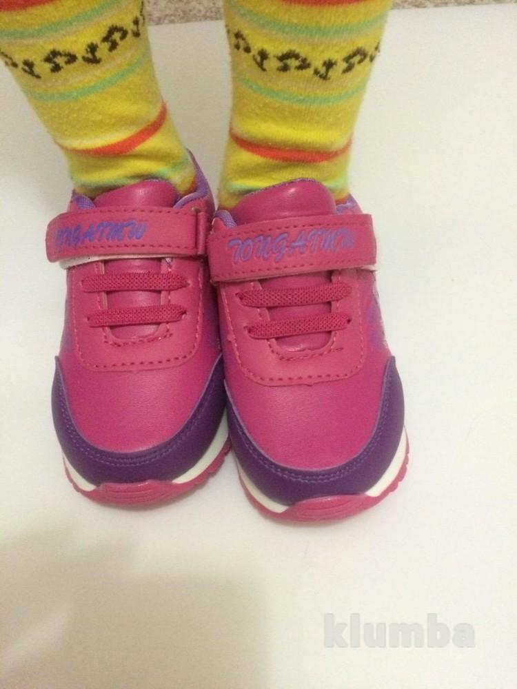 Детские кроссовки для девочки малиновые (розовые) фото №3