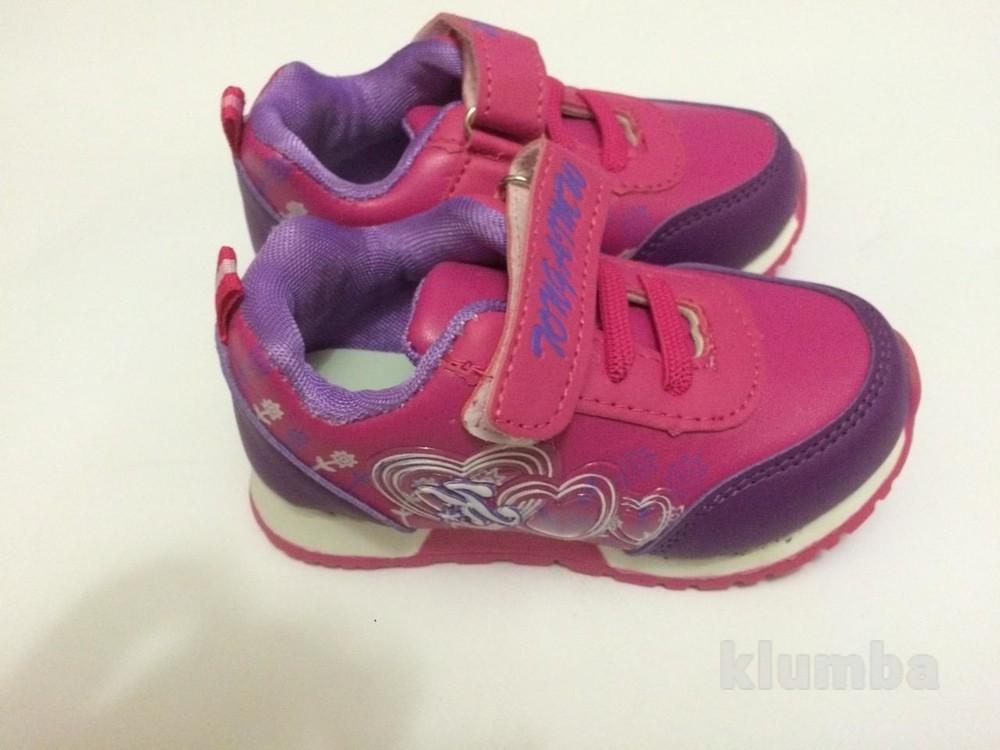 Детские кроссовки для девочки малиновые (розовые) фото №4