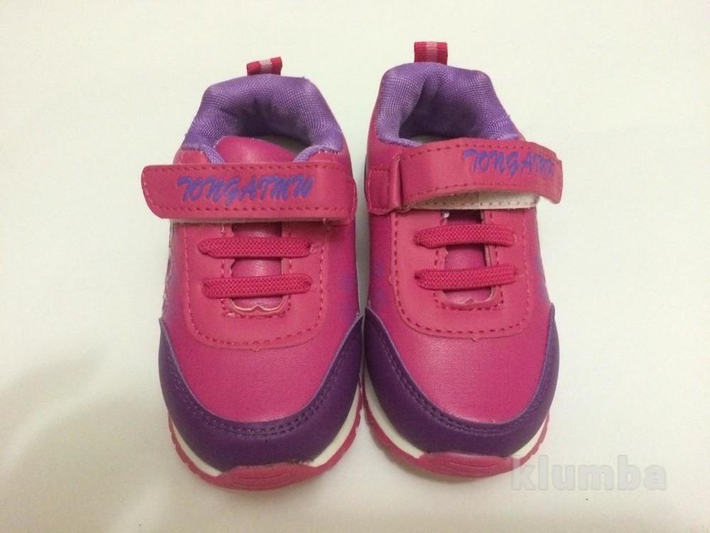 Детские кроссовки для девочки малиновые (розовые) фото №5
