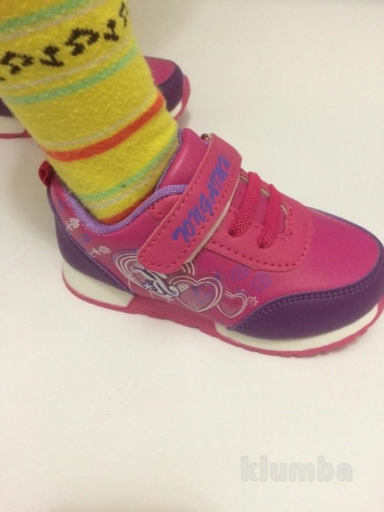 Детские кроссовки для девочки малиновые (розовые) фото №6