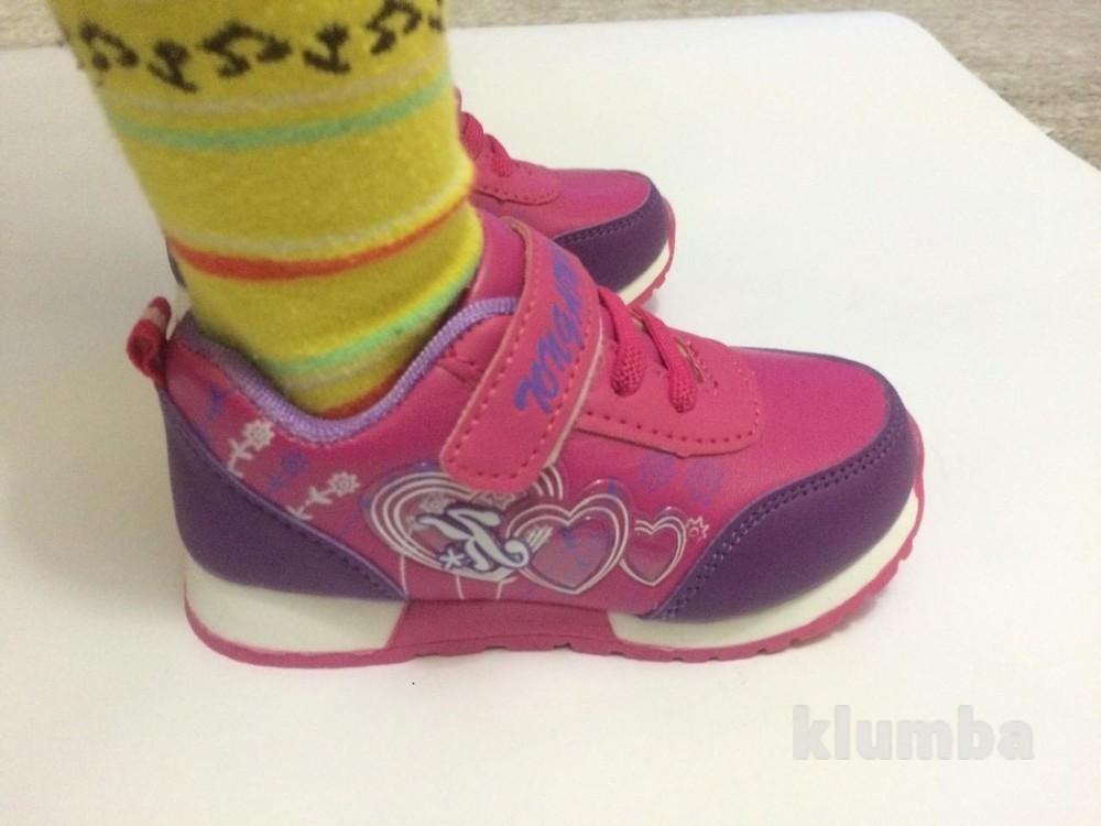 Детские кроссовки для девочки малиновые (розовые) фото №2