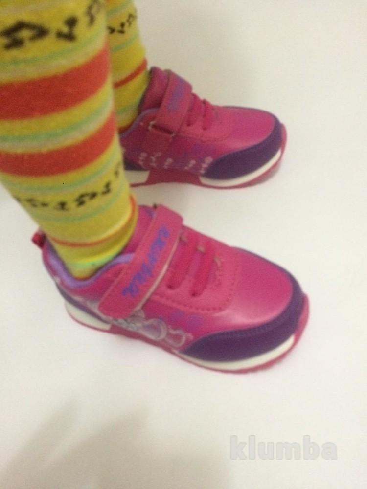 Детские кроссовки для девочки малиновые (розовые) фото №7