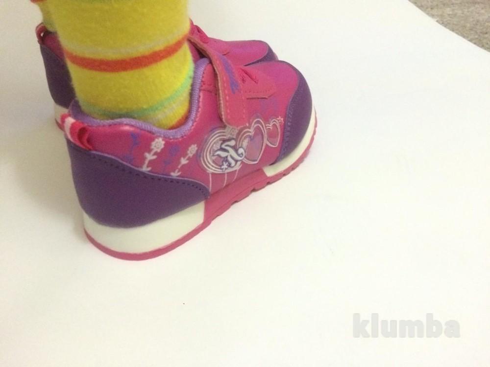Детские кроссовки для девочки малиновые (розовые) фото №8
