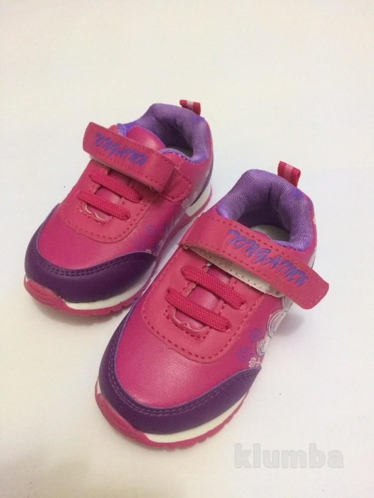 Детские кроссовки для девочки малиновые (розовые) фото №9