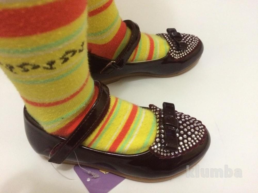 Детские туфли со стразами очень красивые!!) для девочки фото №4