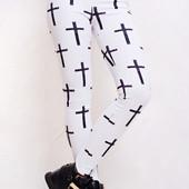 Белые лосины с крестами