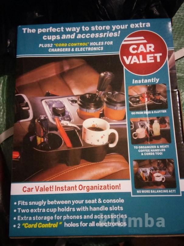 Подставка в машину для бутылок, держатель для напитков car valet фото №6