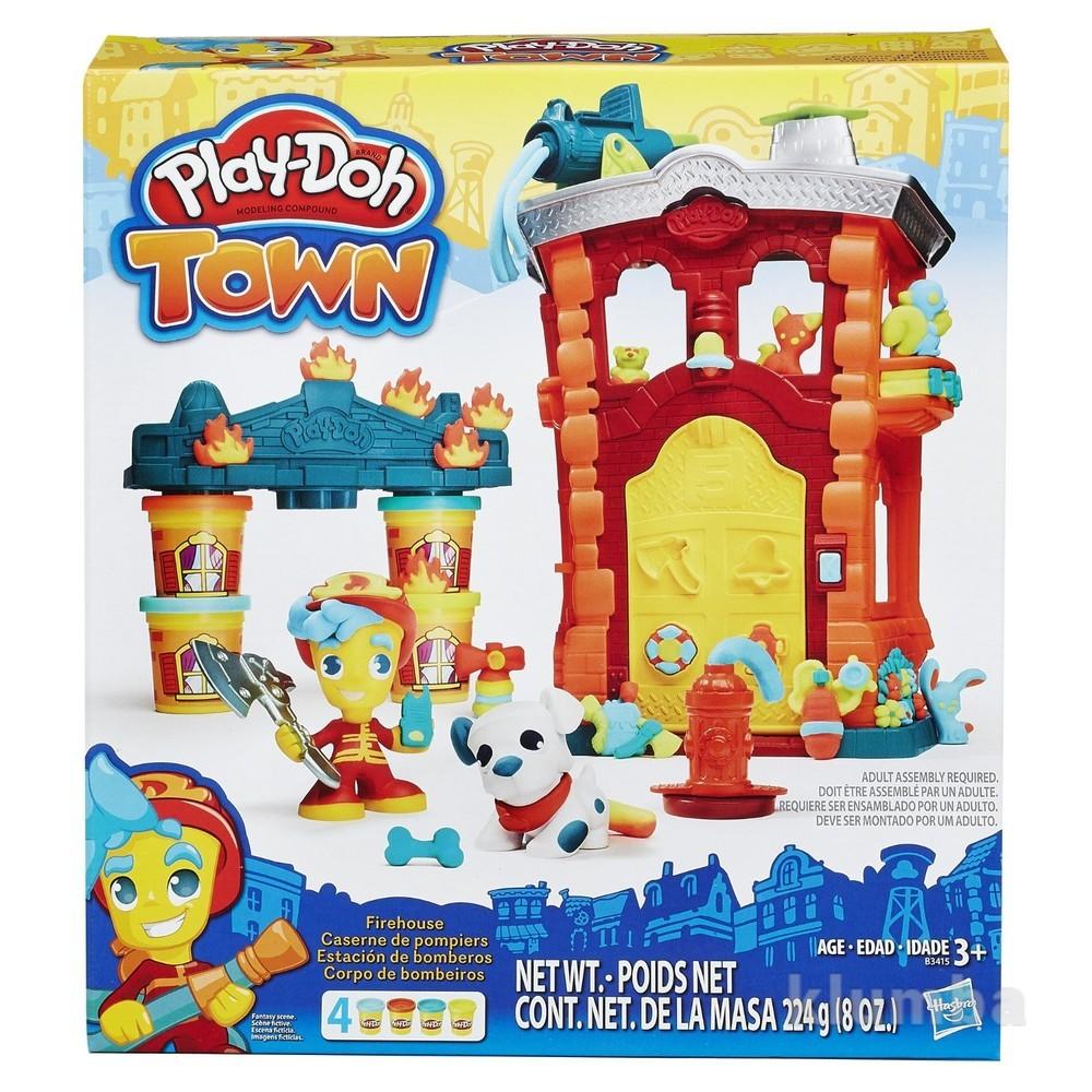 Play-doh town firehouse игровой набор пластилин город пожарная часть фото №1