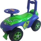 Автошка с музыкальным рулем для мальчика машинка толкатель 013117/u/r 02
