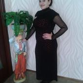 Платье нарядное в пол, мелкая роза, одевалось 1 раз, р. М, L
