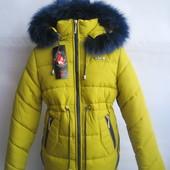 Детская / подростковая зимняя куртка / пальто для девочки, р.146, код Мэри