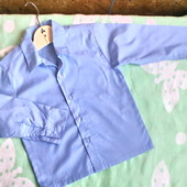 Рубашка с длинным рукавом для мальчика на 5- 6  лет ( 110 - 116))