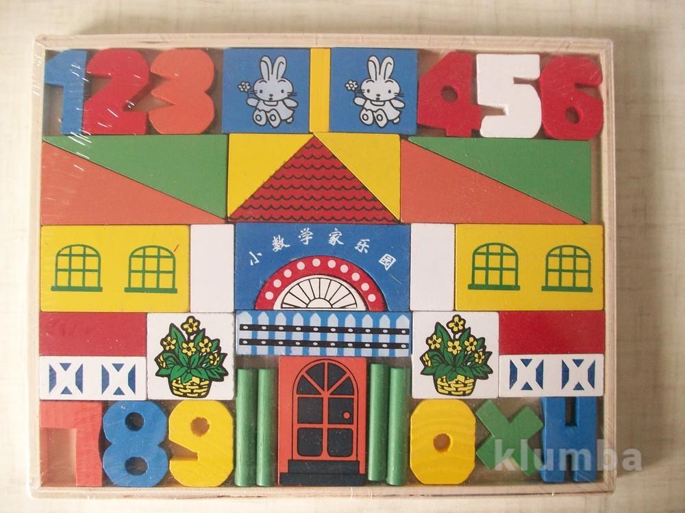 Деревянный конструктор дом фото №1
