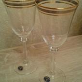 Фужеры (бокалы) Bohemia для вина Angela Gold 250 мл 6 шт
