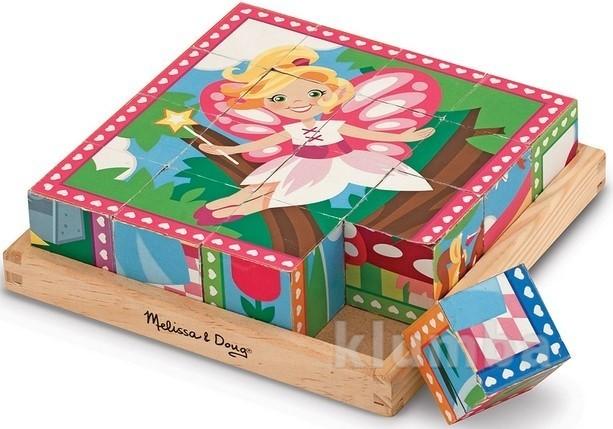 Кубики-пазл «принцессы и феи», melissa&doug артикул: md19040 фото №1