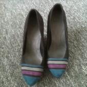 туфлі замшеві 37,5р (25,5см)