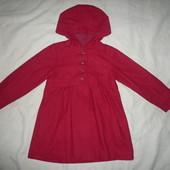 Красивое классическое пальто пальтишко шерсть Vertbaudet 4-6 лет