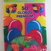 Надувные шарики 50 шт. Микс цветов. Размер шарика - 26 см. УП 8 грн.