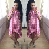 """Платье в клетку ОС-871,три цвета,размер один 42-44.(""""1"""