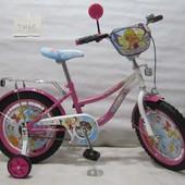 Велосипед Tilly Волшебница 16 T-21621 pink + white
